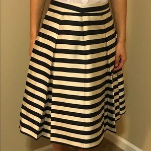 Halogen Stripe Midi Skirt
